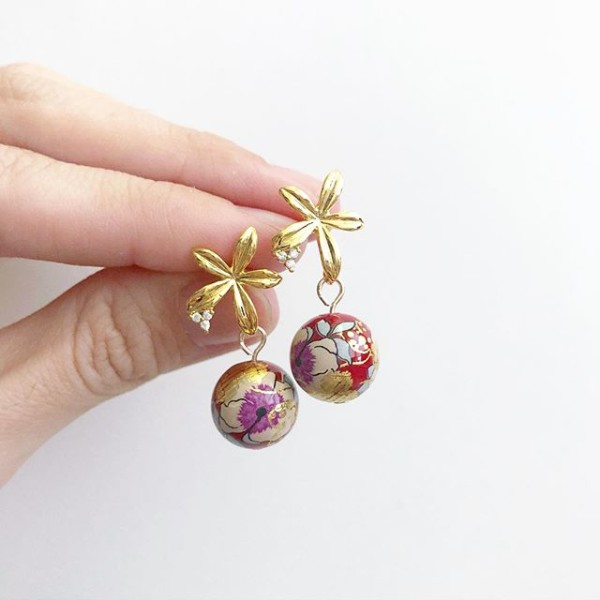 Abstract Floral Earrings - Diary of a Miniature Enthusiast