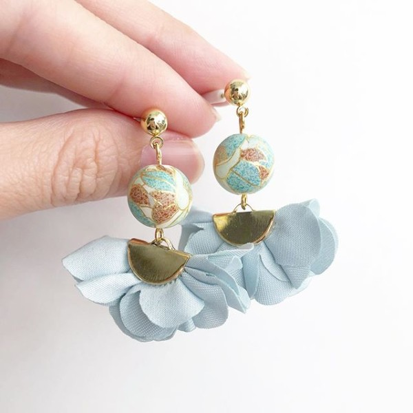 Baby Blue Flare Earrings - Diary of a Miniature Enthusiast