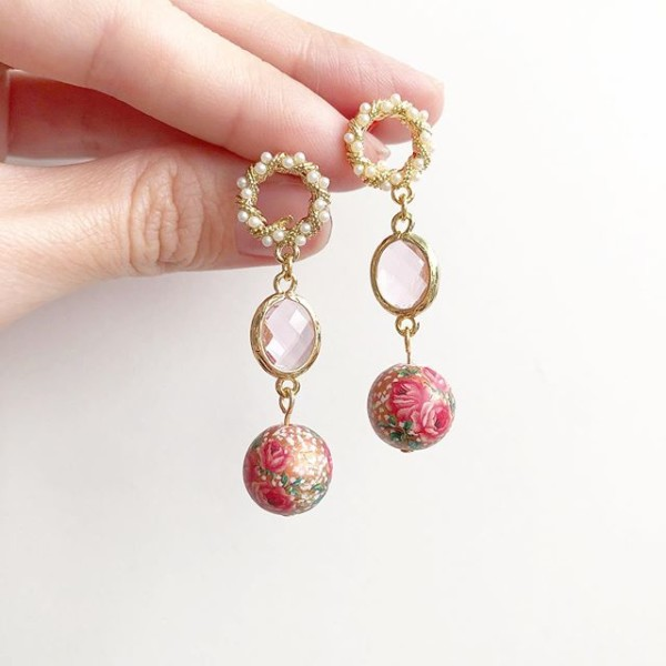 Triple Rose Metallic Copper Earrings - Diary of a Miniature Enthusiast