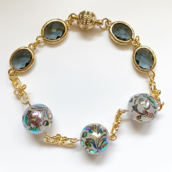 Mystic Swirls Opal Faceted Links Bracelet - Diary of a Miniature Enthusiast