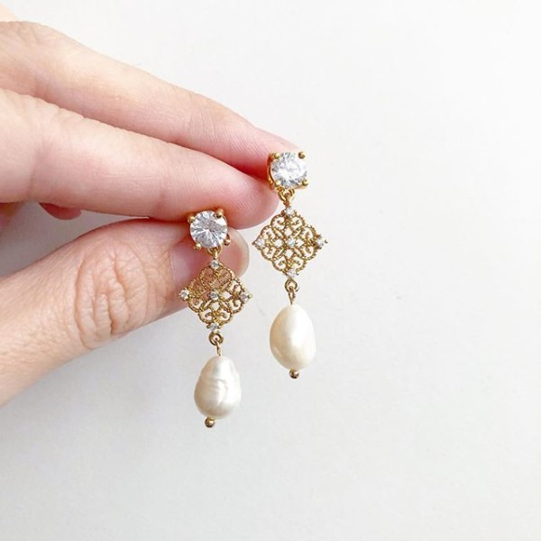 Purity Exquisite Freshwater Pearl Earrings - Diary of a Miniature Enthusiast