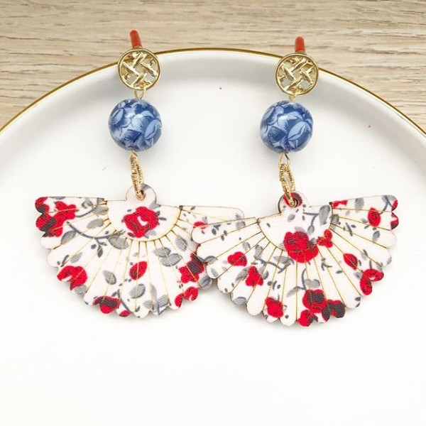 Chinoiserie Chic Floral Fan Earrings - Diary of a Miniature Enthusiast