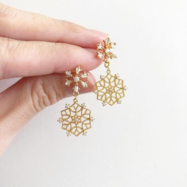 Purity Intricate Snowflake Earrings - Diary of a Miniature Enthusiast