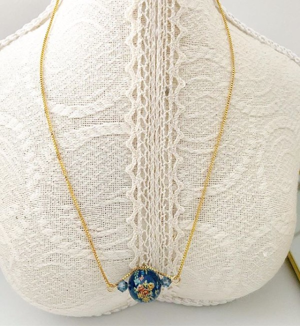 Navy Blue Necklace - Diary of a Miniature Enthusiast