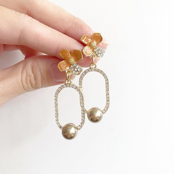 Brown and Bronze Floral Earrings - Diary of a Miniature Enthusiast