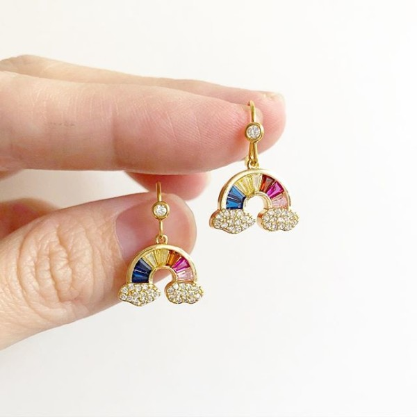 Rainbow CZ Earrings - Diary of a Miniature Enthusiast