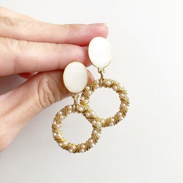 Purity Intricate Pearl Ring Earrings - Diary of a Miniature Enthusiast