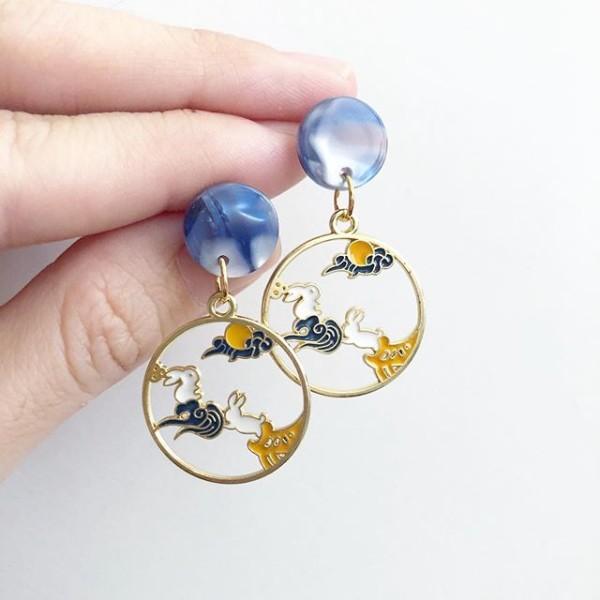 Heavenly Bunnies Earrings - Diary of a Miniature Enthusiast