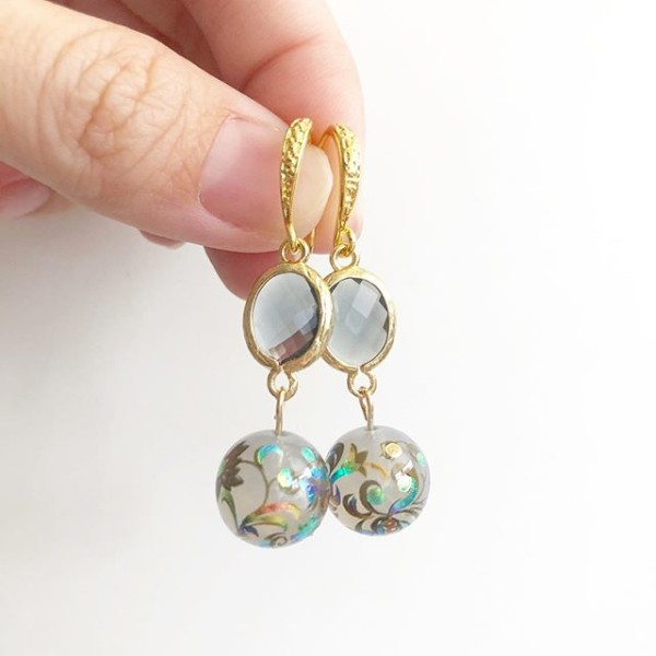 Mystic Swirls Opal Link Earrings - Diary of a Miniature Enthusiast