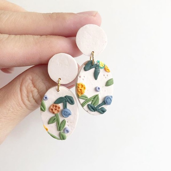 The Spring Gardens Oval Earrings - Diary of a Miniature Enthusiast