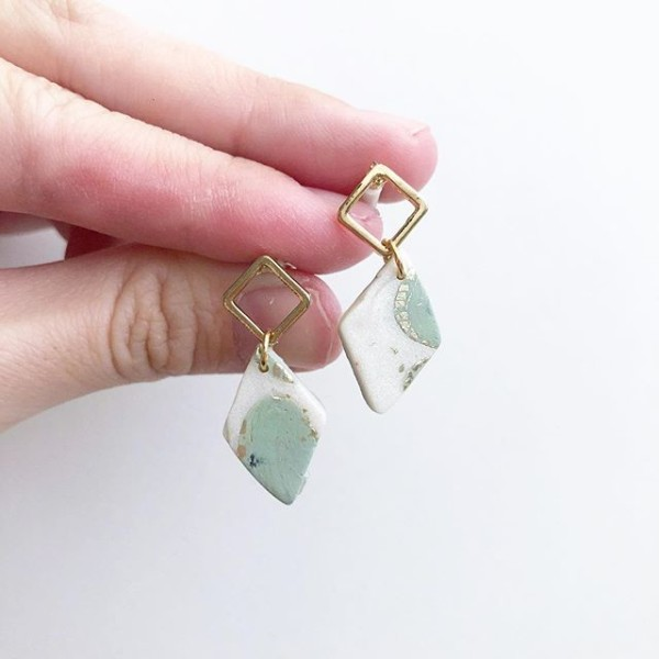 Sage & Serenity Rhombus Earrings - Diary of a Miniature Enthusiast