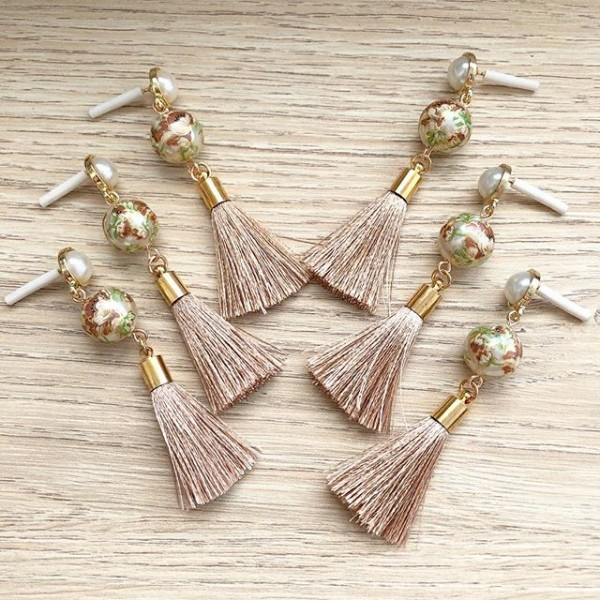 Taupe Tassels Earrings - Diary of a Miniature Enthusiast