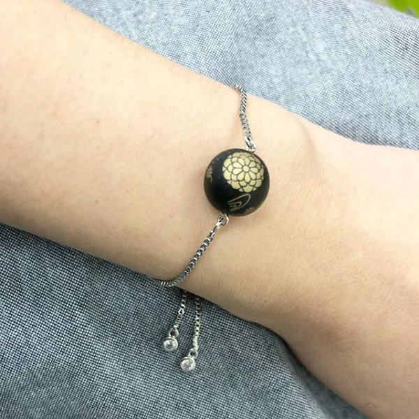 Matte Black and Gold Bracelet - Diary of a Miniature Enthusiast