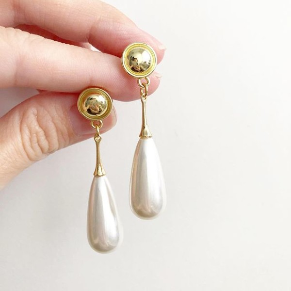 Purity Long Teardrop Earrings - Diary of a Miniature Enthusiast
