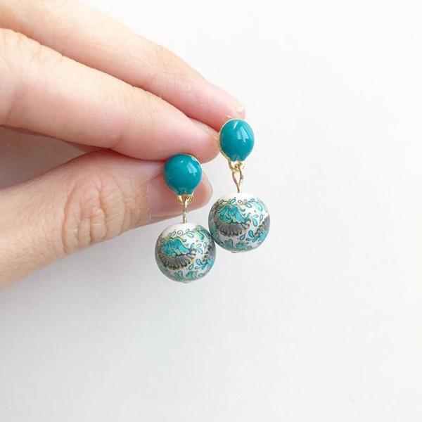 Teal Phoenix Earrings - Diary of a Miniature Enthusiast