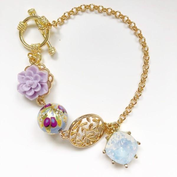 Purple Buds Baby Blue Bracelet - Diary of a Miniature Enthusiast