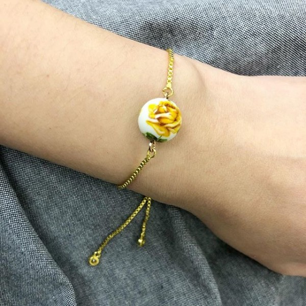 Yellow Rose Bracelet - Diary of a Miniature Enthusiast