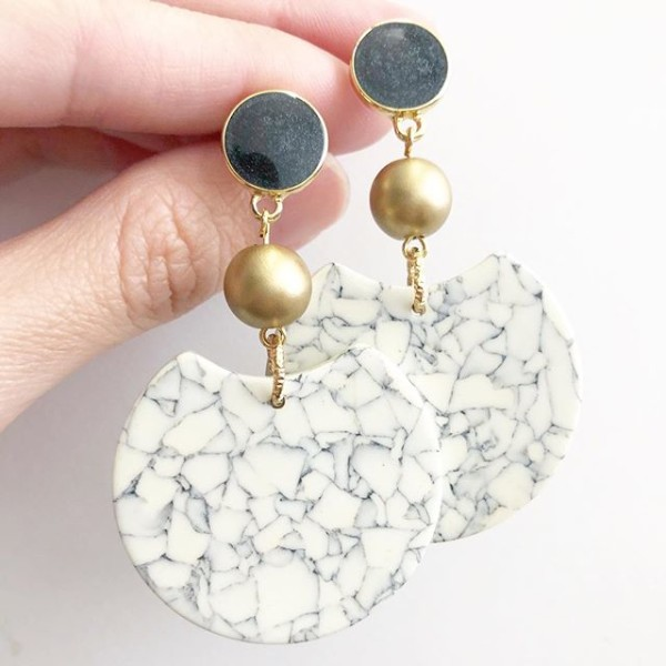 Modern Minimalist Earrings - Diary of a Miniature Enthusiast