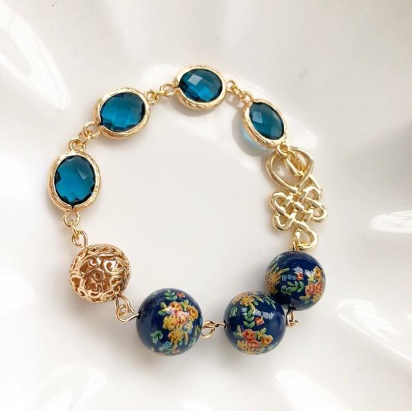 Navy Bouquet Bracelet - Diary of a Miniature Enthusiast