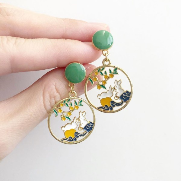 Spring Bunnies Earrings - Diary of a Miniature Enthusiast