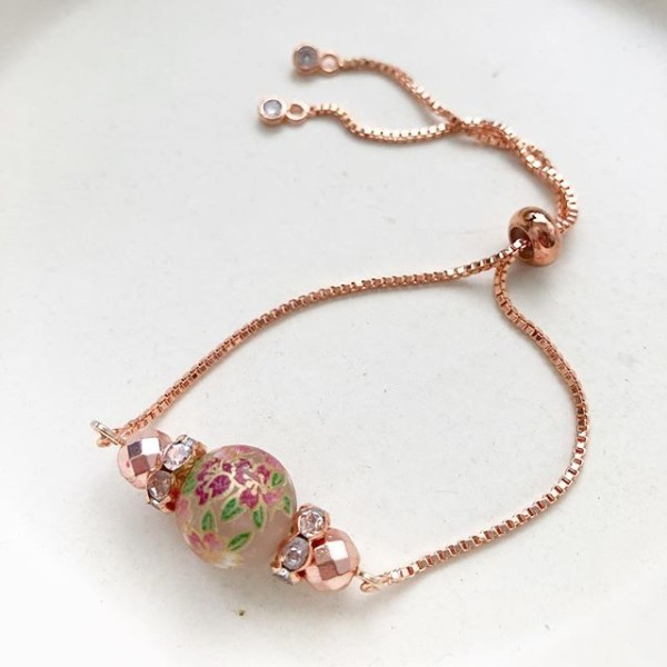 Rose Gold Floral Bracelet - Diary of a Miniature Enthusiast