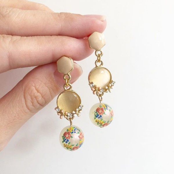 Garden Butterfly Opaline Ring O Roses Long Earrings - Diary of a Miniature Enthusiast