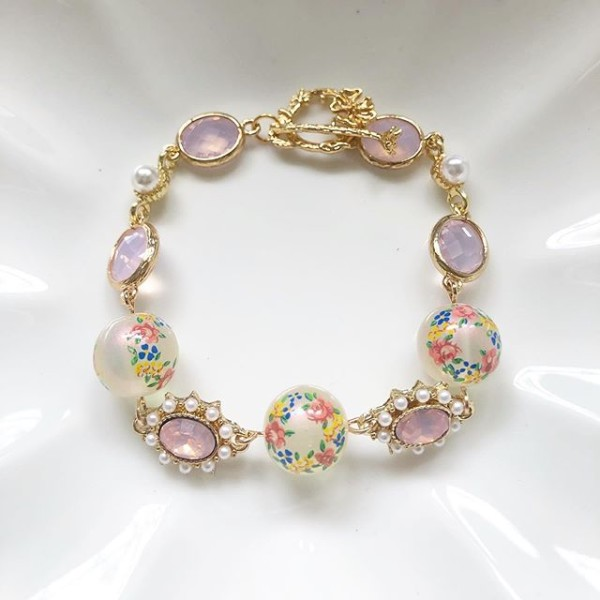 Garden Butterfly Opaline Ring O Roses Faceted Link Bracelet - Diary of a Miniature Enthusiast
