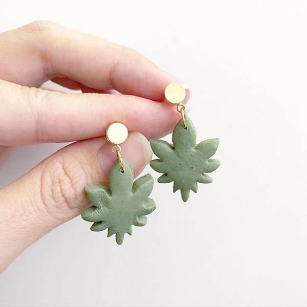 Christmas Romance Leaf II Dangle Earrings - Diary of a Miniature Enthusiast