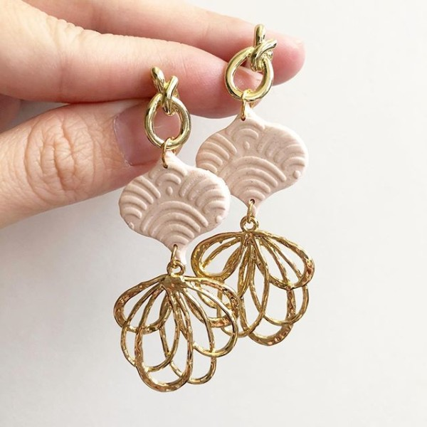 Blush Blooms Lantern Earrings - Diary of a Miniature Enthusiast
