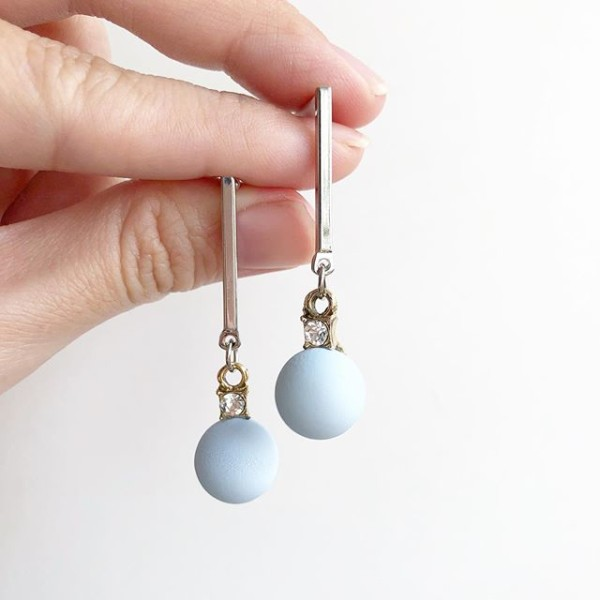 Baby Blue Dangle Earrings - Diary of a Miniature Enthusiast