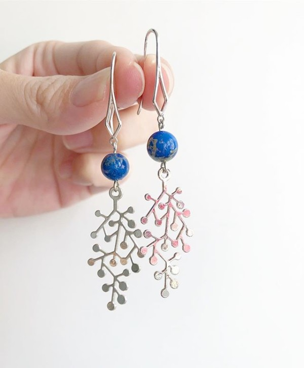 Blue & Silver Drop Earrings - Diary of a Miniature Enthusiast