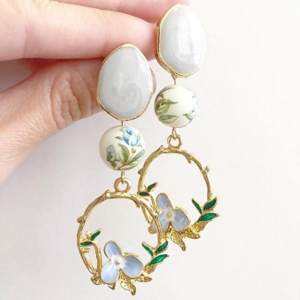 Baby Blue Bud Fairytale Earrings - Diary of a Miniature Enthusiast