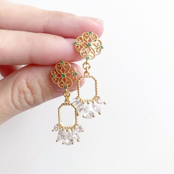 Glitter Elegance Earrings No.1 - Diary of a Miniature Enthusiast