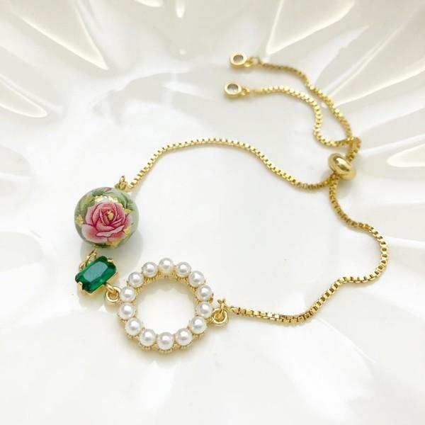 Nyonya Splendour Ring of Pearls Adjustable Bracelet - Diary of a Miniature Enthusiast