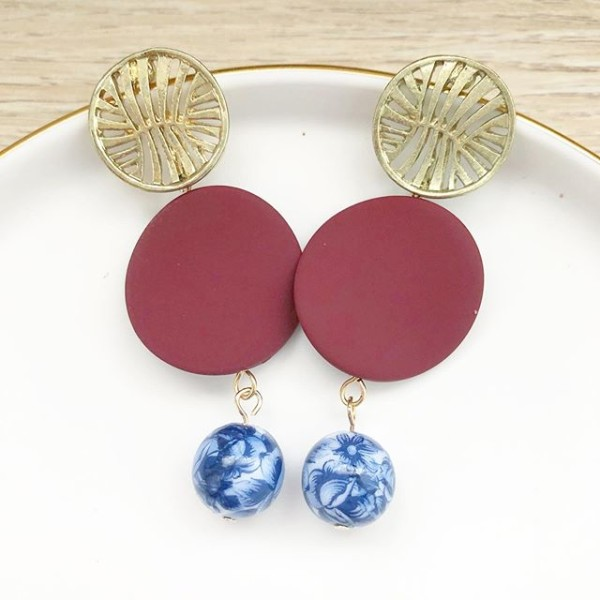 Chinoiserie Chic Statement Earrings - Diary of a Miniature Enthusiast