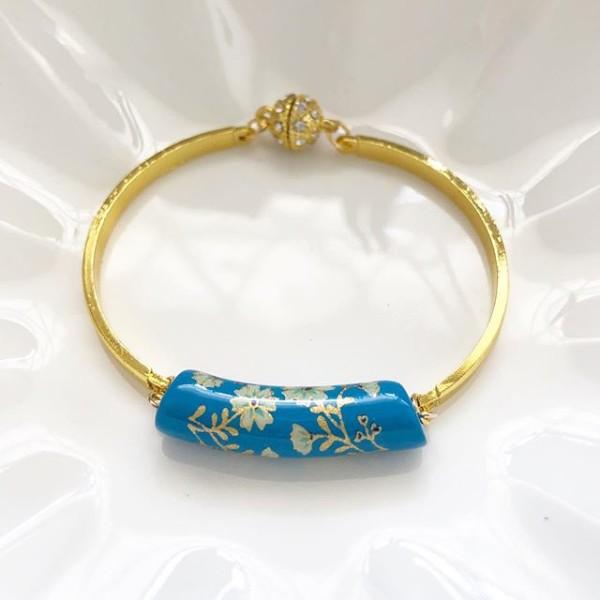Blue Daffodils Flexible Bangle - Diary of a Miniature Enthusiast