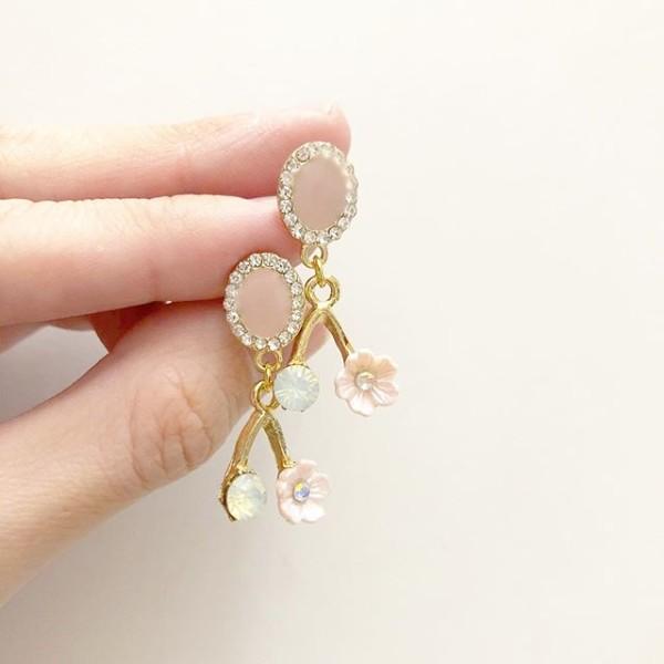 Pastel Pink Sakura Earrings  - Diary of a Miniature Enthusiast