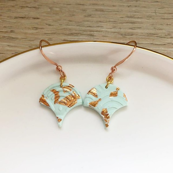 Day Chamomile Fields Scallop Earrings - Diary of a Miniature Enthusiast