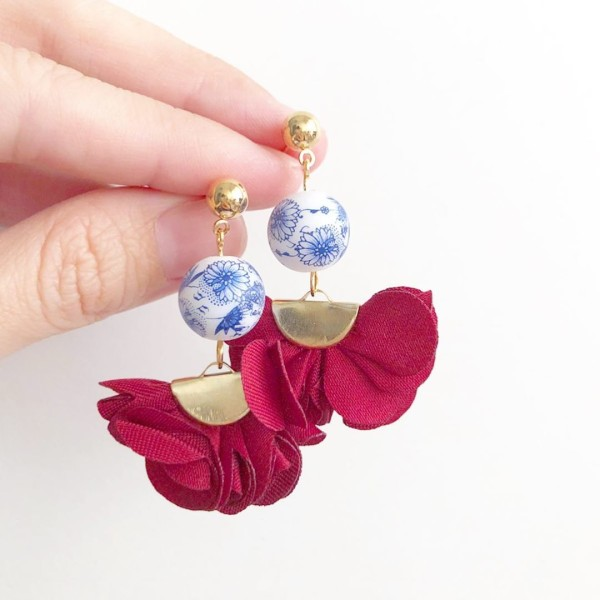Chinoiserie Chic Flare Earrings - Diary of a Miniature Enthusiast