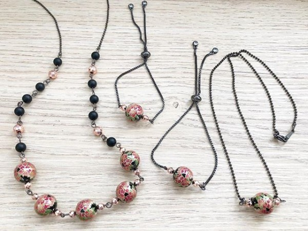 Pink and Black Bracelets and Necklace - Diary of a Miniature Enthusiast
