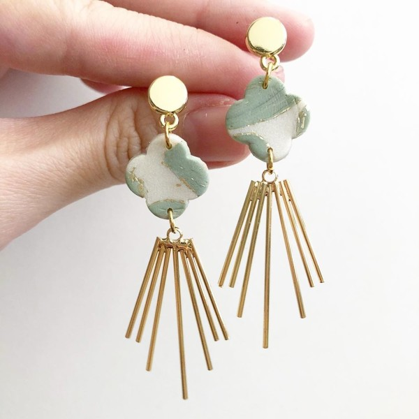 Sage & Serenity Clover Dangle Earrings - Diary of a Miniature Enthusiast