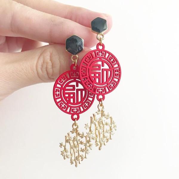 Mid Autumn Blessings Bamboo Shrine Earrings - Diary of a Miniature Enthusiast