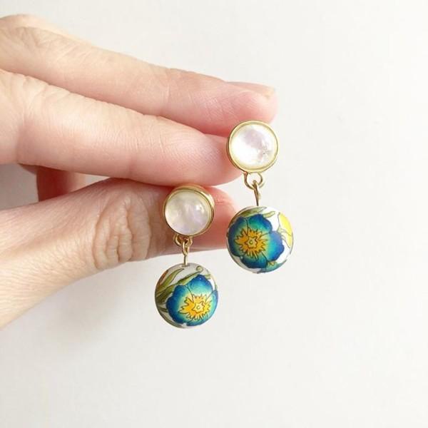 Blue Primrose Earrings - Diary of a Miniature Enthusiast