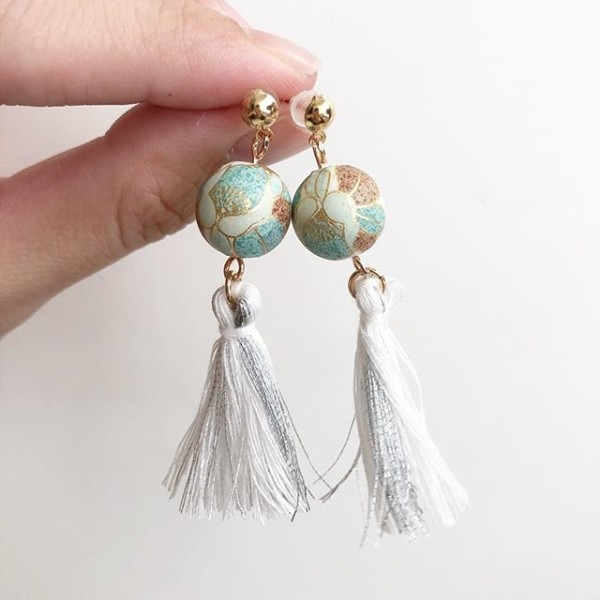 White Tassels Earrings - Diary of a Miniature Enthusiast