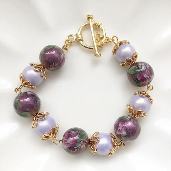 Purple Rose Bracelet - Diary of a Miniature Enthusiast