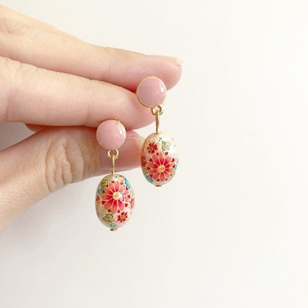 Pearl Sakura Blossoms Plain Earrings - Diary of a Miniature Enthusiast