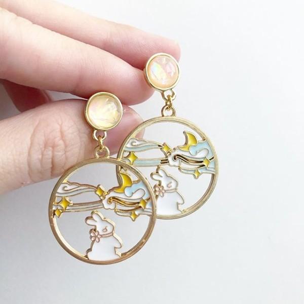 Dreamy Bunny Earrings - Diary of a Miniature Enthusiast