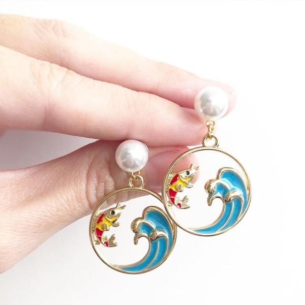 Leaping Koi Earrings - Diary of a Miniature Enthusiast