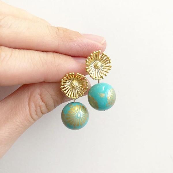 Turquoise Kimono Earrings - Diary of a Miniature Enthusiast