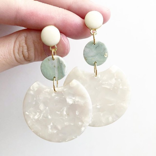 Sage & Serenity Marbleize Statement Dangle Earrings - Diary of a Miniature Enthusiast